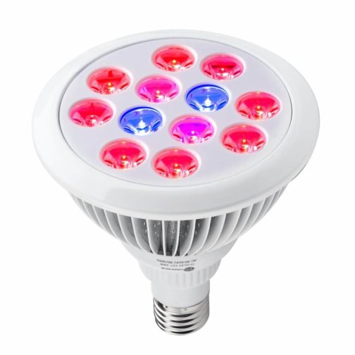 TaoTronics 24w Led Grow light Bulb , Grow Plant Light for Hydropoics Organic Mini Greenhouse (3 Bands) Grow Lights