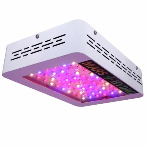 Mars Hydro Mars 300w LED Grow Light with Veg/Bloom Spectrum for Indoor Tent Growing 132W True Watt Panel Grow Lights