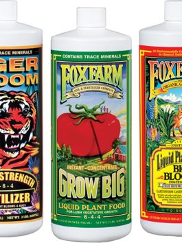 Fox Farm FX14049 Liquid Nutrient Trio Soil Formula: Big Bloom, Grow Big, Tiger Bloom