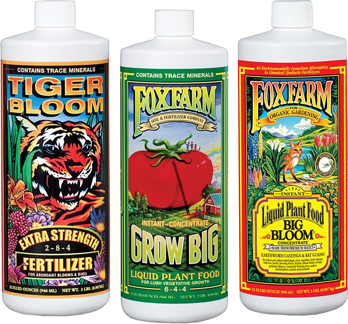 Fox Farm FX14049 Liquid Nutrient Trio Soil Formula: Big Bloom, Grow Big, Tiger Bloom