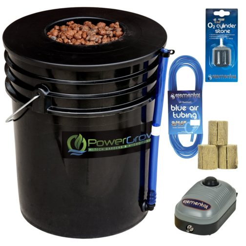 Deep Water Culture (DWC) Hydroponic Bucket Kit 5 Gallon, 6 inch Grow Tent Accessories