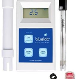Bluelab METCOM Combo Meter for pH, Temperature, and Conductivity Measures, Easy Calibration Grow Tent Accessories