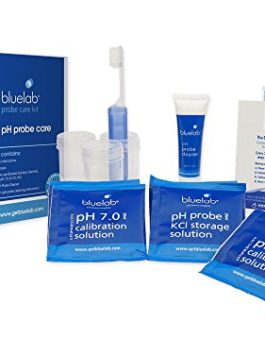 Bluelab CAREKITPH pH Probe Care Kit with Calibration Solution, Storage Solution, and Brush