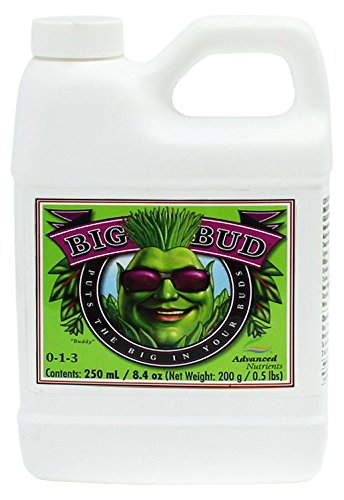 Advanced Nutrients GL525050-12 Big Bud Liquid Fertilizer, 250 mL.250 Liter, Brown/A Nutrients
