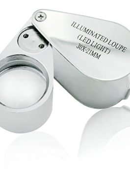 Etopstech Jewelry Loupe – LED Illuminated, 30x, 21mm – MG21007(Silver)