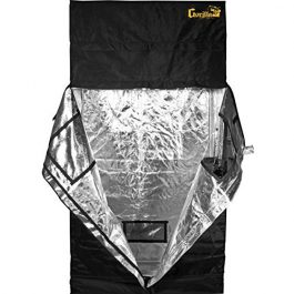 Gorilla Grow Tent GGT24 GGT24 Grow Tent, 2 by 4 by 6-Feet/11-Inch, Black Grow Tents