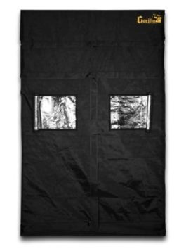 Gorilla Grow Tent GGT55 Grow Tent, 5 by 5 by 6-Feet/11-Inch, Black