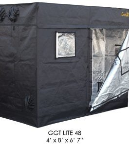 Gorilla Grow Tent Lite Line | Complete 4-Foot by 8-Foot Reflective Hydroponic Grow Tent for Growing Indoor Plants | Steel Interlocking Poles, Windows, Floor Tray