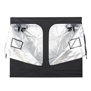 IDAODAN-96x48x80-Mylar-Hydroponic-Grow-Tent-with-Metal-Push-Lock-Corners-Obeservation-Window-and-Floor-Tray-for-Indoor-Plant-Growing-4x8-0