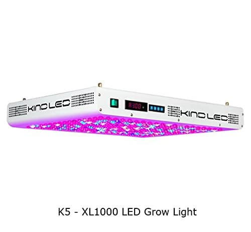 Kind K5 XL1000 LED Grow Light w/ Rope Ratches and Active Eye glasses