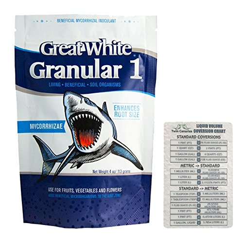 Plant Success Great White Granular 1 Beneficial Mycorrhizal Inoculant, 4 oz + Twin Canaries Chart