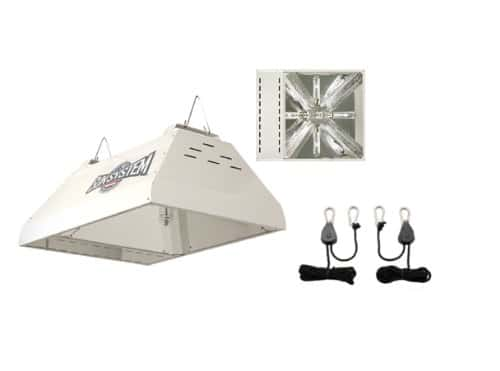 Sun System LEC 315 240v Light Emitting Ceramic Metal Halide Fixture w/ Free Ratchet Light Hangers Grow Lights