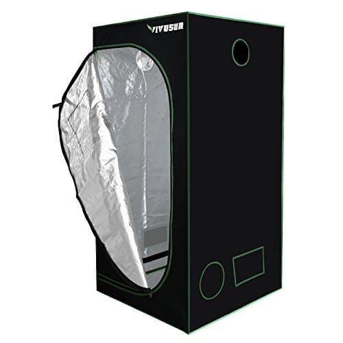 "VIVOSUN 36""x36""x72"" Mylar Hydroponic Grow Tent with Observation Window and Floor Tray for Indoor Plant Growing 3'x3' Grow Tents"