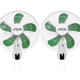 Active Air ACF16 16 inch 3-Speed Mountable 90-Degree Oscillating Hydroponic Grow Fan (2 Pack) Grow Tent Accessories