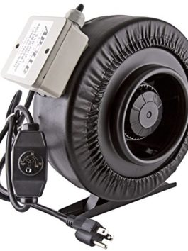 "Apollo Horticulture 6"" Inch 440 CFM Inline Duct Fan with Built In Variable Speed Controller"