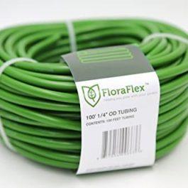 "FloraFlex 760456 100-ft. 1/4"" OD Tubing (1-Pack), 3/16"" ID, Green Grow Tent Accessories"