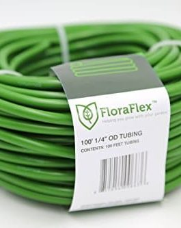 FloraFlex 760456 100-ft. 1/4″ OD Tubing (1-Pack), 3/16″ ID, Green