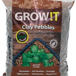 GROW!T GMC10L Clay Pebbles 10 Liter Bag, 4mm-16mm Grow Tent Accessories