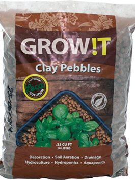 GROW!T GMC10L Clay Pebbles 10 Liter Bag, 4mm-16mm