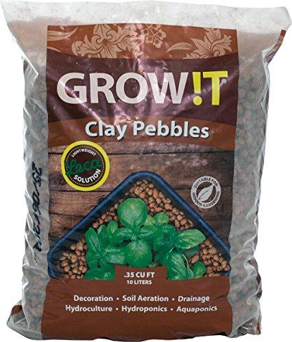 GROW!T GMC10L Clay Pebbles 10 Liter Bag, 4mm-16mm Grow Tent Accessories