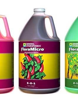 General Hydroponics Flora Grow, Bloom, Micro Combo Fertilizer set