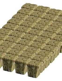 Grodan 1″ x 1″ Starter Plug Rockwool Hydroponic Grow Media (50 Cubes)