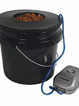 HTGSupply 3.5-Gallon Bubble Boy Single Shot Deep Water Culture (DWC) Hydroponic Bucket System