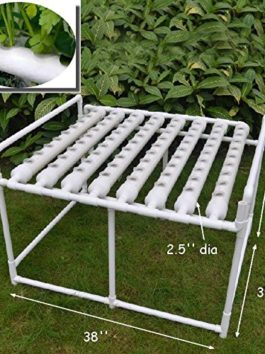 INTBUYING Hydroponic Site Grow Kit 72 Site Ebb and Flow Deep Water Culture Garden System with Nest Basket Water Pump and…