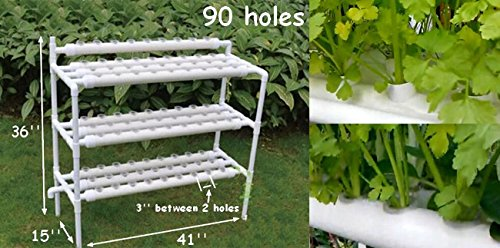 hydroponic site grow kit 90 site ebb and flow deep water culture garden system with nest basket. Black Bedroom Furniture Sets. Home Design Ideas