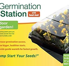 Jump Start CK64050 Germination Station w/Heat Mat Tray, 72-Cell Pack, One size, 2″ Dome