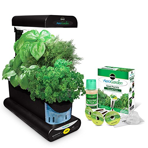AeroGarden Sprout with Gourmet Herb Seed Pod Kit, Black Grow Tent Accessories