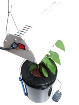 Viagrow Hydroponic Black Bucket Deep Water and Grow Light Kit