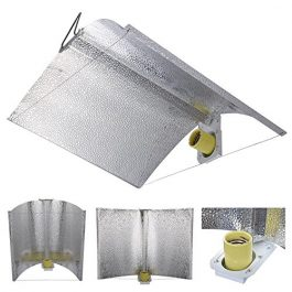 """Yescom 27x18"""" Adjustable Wing Reflector Hood Air Cool for HPS MH Grow Light Bulb Tent Indoor Hydroponic Greenhouse Grow Lights"""