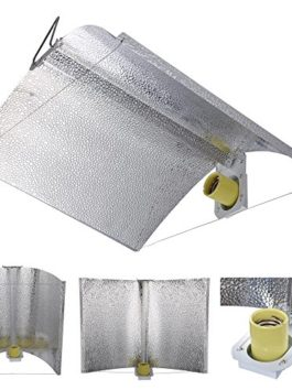 Yescom 27″x18″ Adjustable Wing Reflector Hood for Hydroponic 1000w 600w 400w 250w HPS MH Grow Tent Light Kit