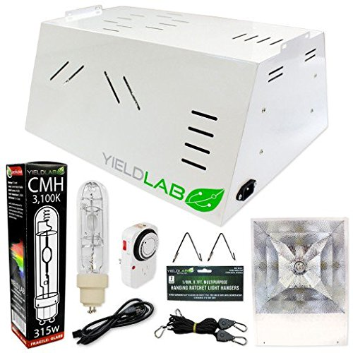 Yield Lab Professional Series 120/220v 315w All-In-One Hood CMH Complete Grow Light Kit Grow Lights