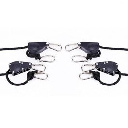 iPower 2-Pack Inch 8-Feet Long Super Duty Adjustable Rope Clip Hanger Grow Tent Accessories