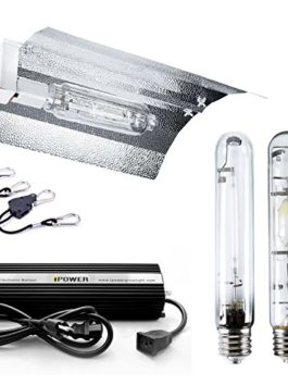 iPower Digital Dimmable HPS Grow Light System for Plants with Wing Set