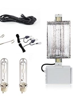 iPower 630W 3100K Double Lamp Ceramic Metal Halide Grow Light System Kits for Indoor Plants 240V includes 2 x 315 Watt CMH Bulbs