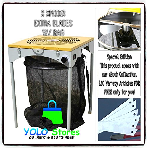 YOLO Stores Hydroponics Leaf Trimmer Hydroponic Bud Trimming Reaper with 6 Extra Blades and Bag, 3 Speeds Pro Machine 110V By Cannabis Trimming Machines