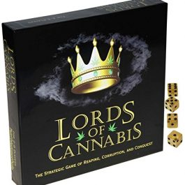Lords of Cannabis Strategic Card Game of Reaping, Corruption and Conquest _ with 4 Bonus Gold Swirl 16mm (d6) dice… Cannabis Games