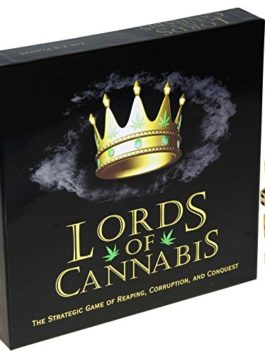 Lords of Cannabis Strategic Card Game of Reaping, Corruption and Conquest _ with 4 Bonus Gold Swirl 16mm (d6) dice…